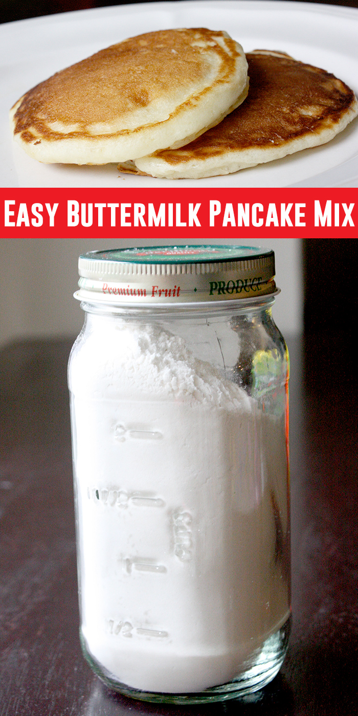 Easy buttermilk pancake mix!