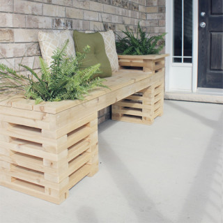 Build an outdoor bench & planter