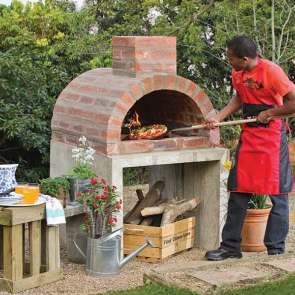 diy pizza oven instructions collage