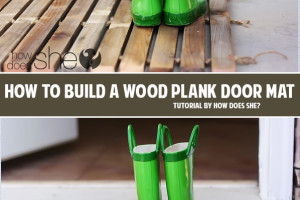 How to build a wood plank door mat DIY tutorial