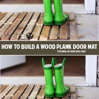 How to build a wood plank door mat