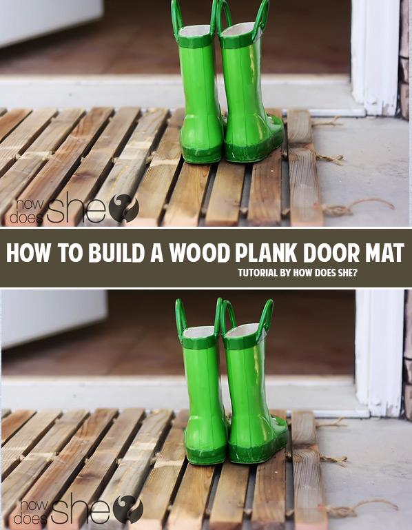 How to build a wood plank door mat DIY tutorial