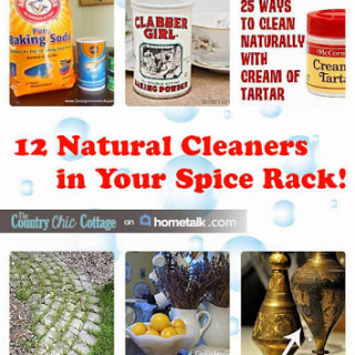 12 natural cleaners in your spice rack!