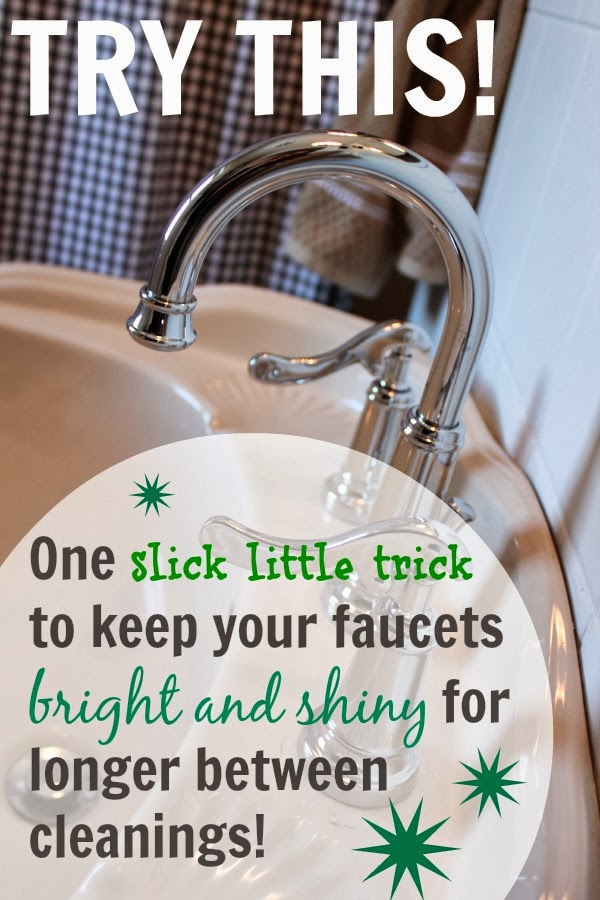 One magical tip to keep your faucets spot free!