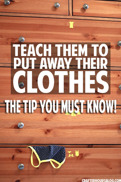 One simple tip to get your kids to put their clothes away