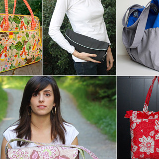 Diaper Bag Tutorial & Pattern Roundup