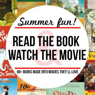 Over 80 children's books made into movies!
