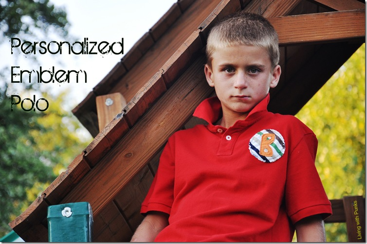 DIY personalized polo shirt for boys