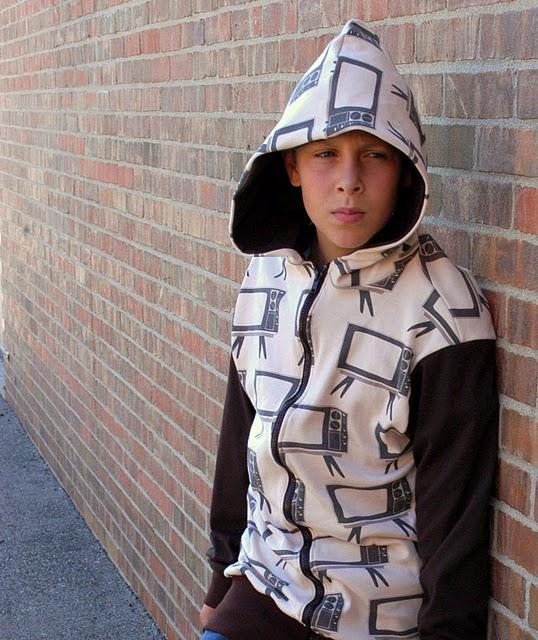 FREE boy hoodie pattern