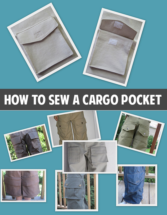 How to sew a cargo pocket tutorial