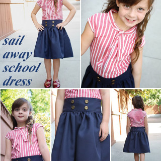 DIY Nautical Dress Tutorial