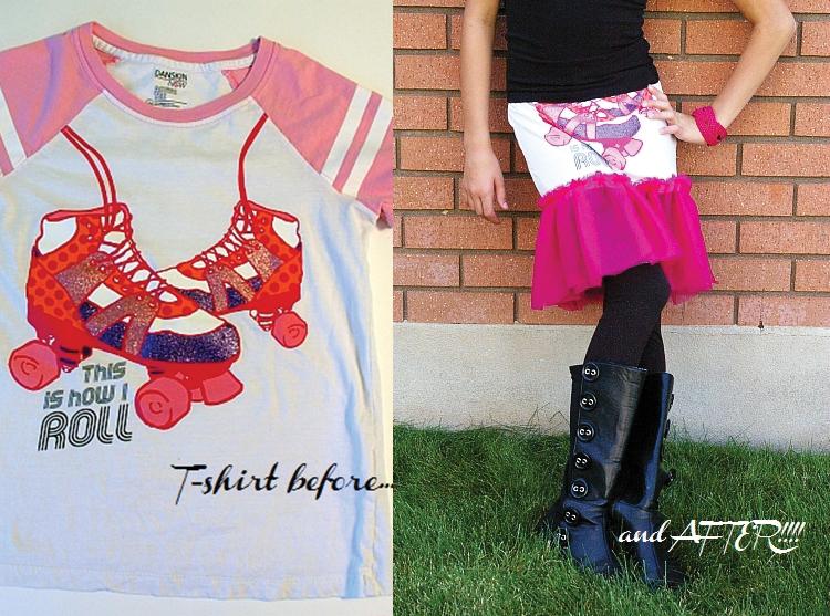 Turn a tee into a skirt!
