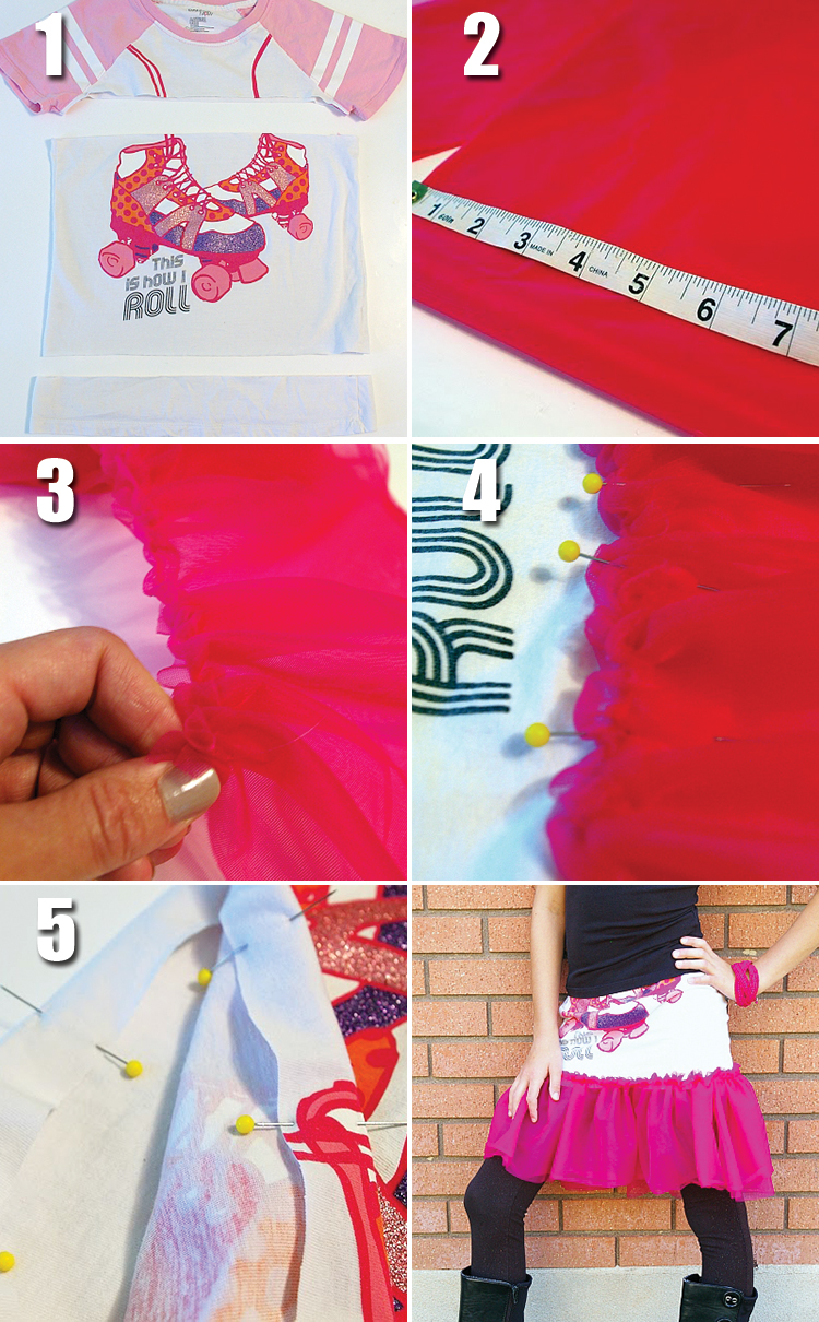 Turn a t-shirt into a skirt!