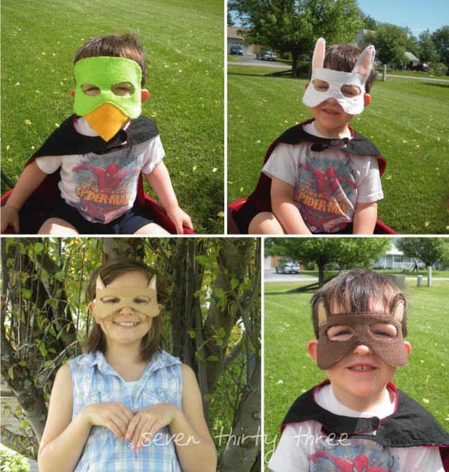 Easy woodland creatures mask tutorial