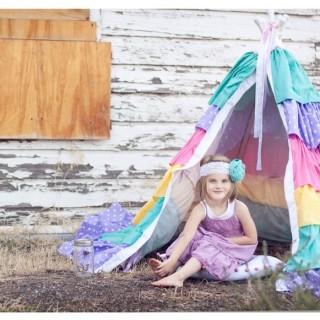 Handmade Dress Up Series: DIY Ruffle TeePee Tutorial