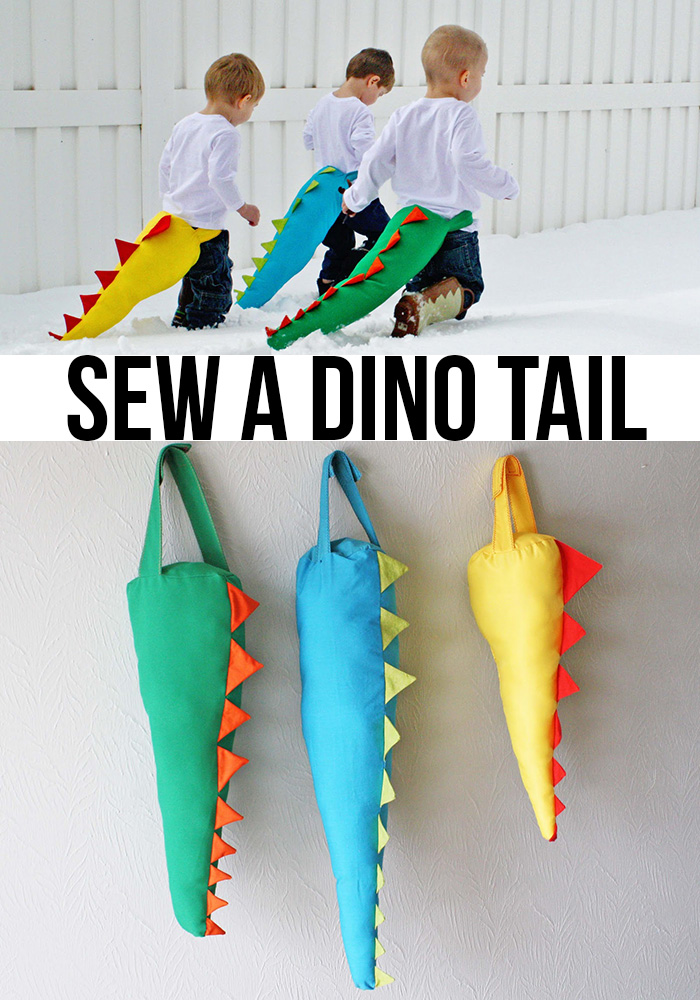Diy dino tail tutorial andreas notebook sew a diy dinosaur dino tail solutioingenieria Choice Image