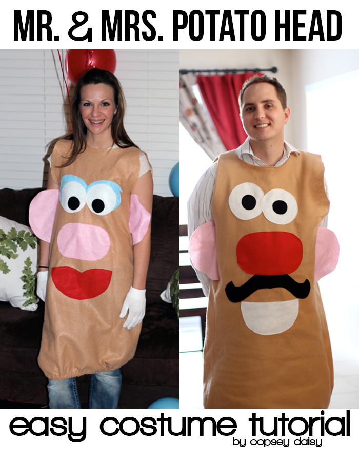 Mr. & Mrs. Potato Head costume tutorial