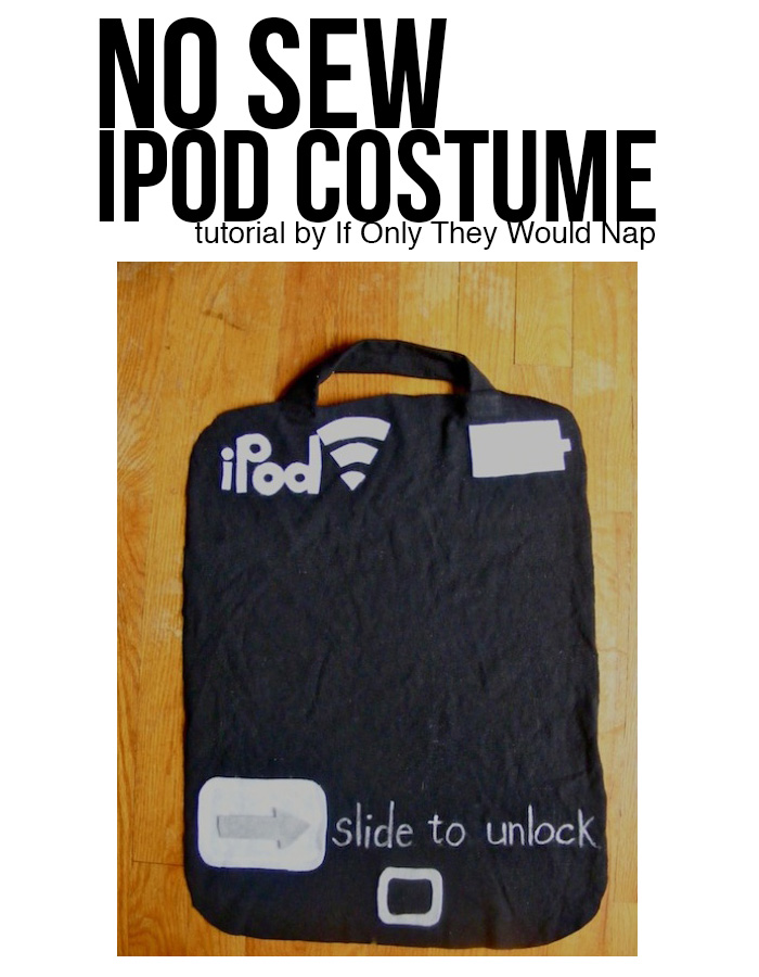 easy iPod or iPhone costume tutorial NO-SEW
