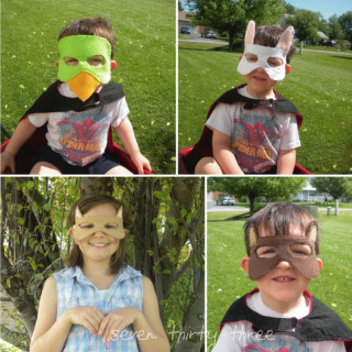 DIY Woodland Creature Masks Tutorial