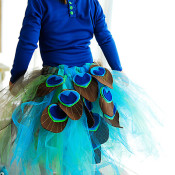Gorgeous peacock tutu tutorial