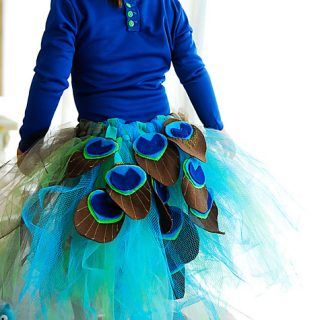 DIY Peacock Costume Tutu Tutorial