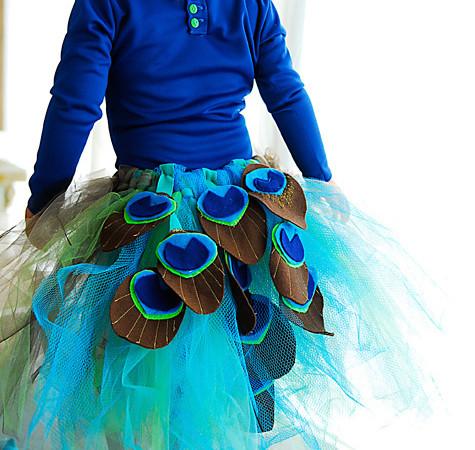 Gorgeous peacock tutu tutorial