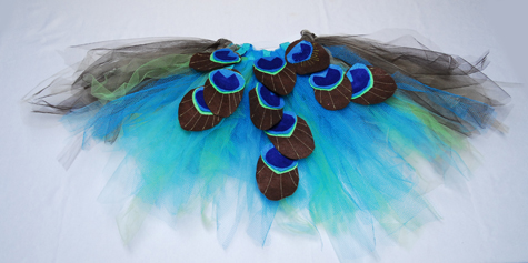 Make a peacock tutu!! Tutorial on andreasnotebook.com