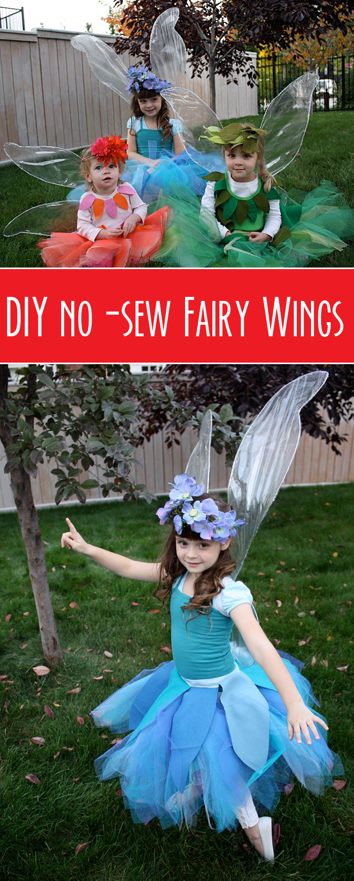 DIY no-sew fairy wings