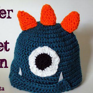 Crochet Monster Hat Tutorial
