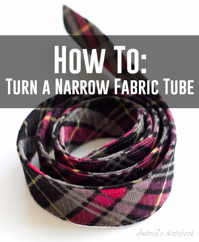 How to turn a narrow fabric tube
