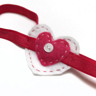 Easy Valentine's Day Heart Headband Tutorial