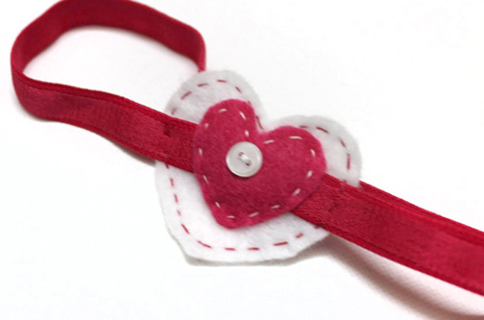 DIY heart headband tutorial