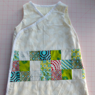 Patchwork baby sleep sack
