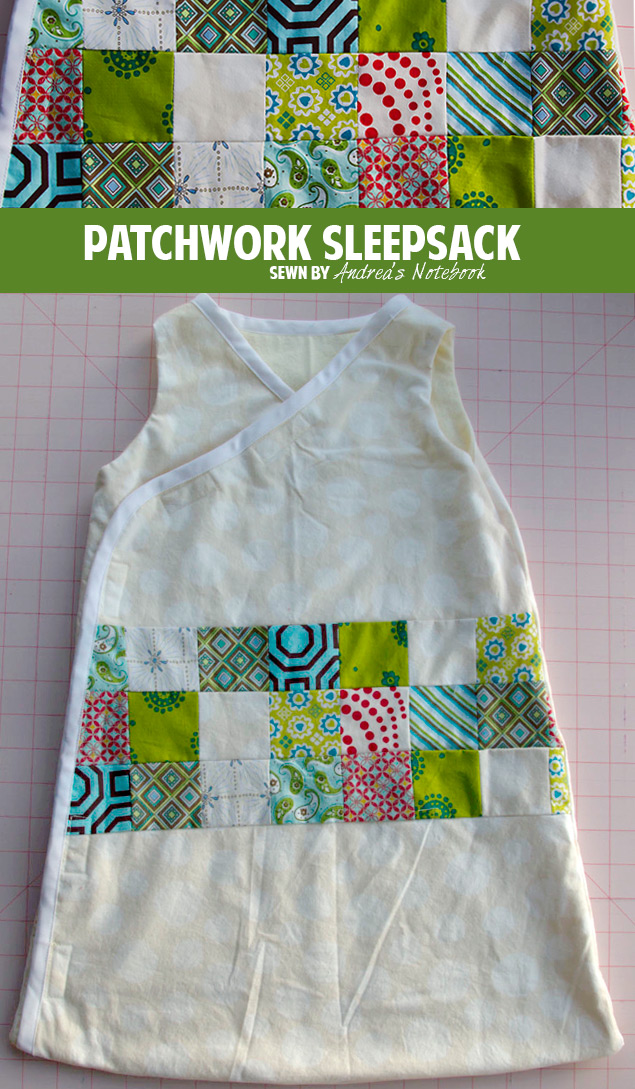 Adorable patchwork sleepsack | andreasnotebook.com