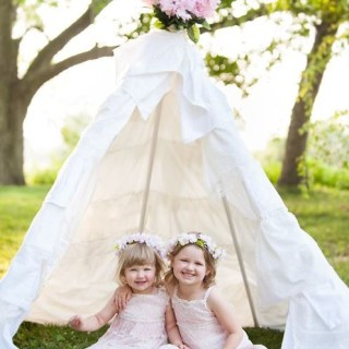 A beautiful DIY teepee