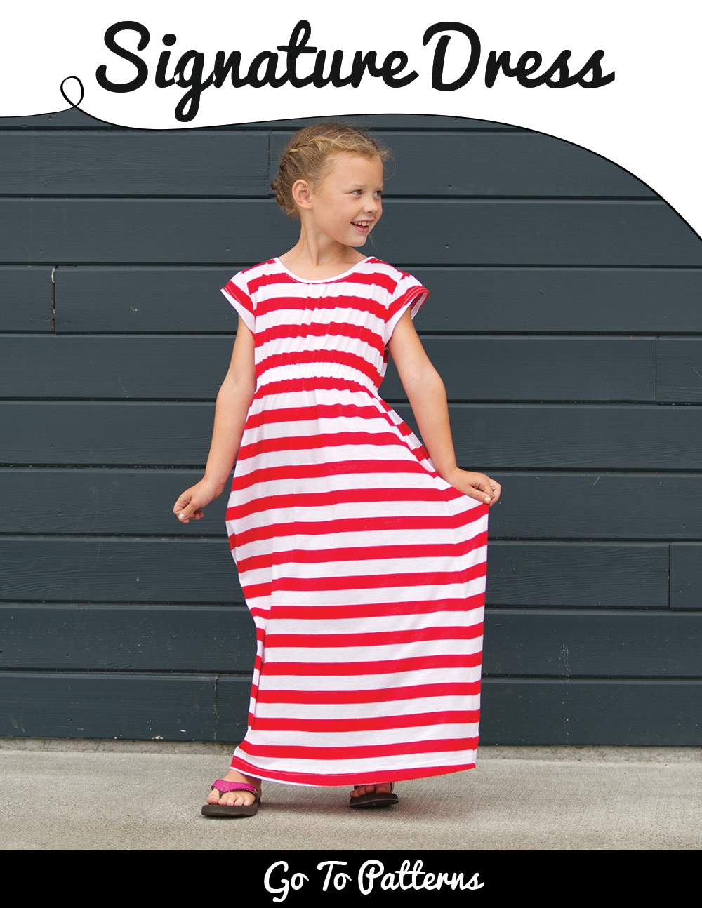 Go To Signature Dress pattern sizes 12m-12yrs