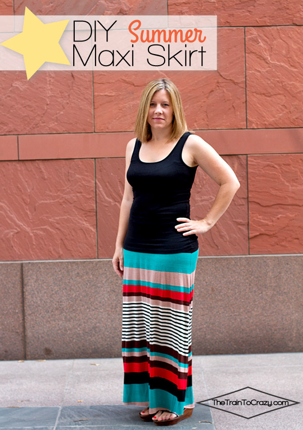 The best knit maxi skirt tutorial!