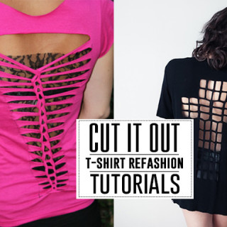 Cut up t-shirt tutorials