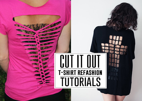 amazing t-shirt refashion tutorials