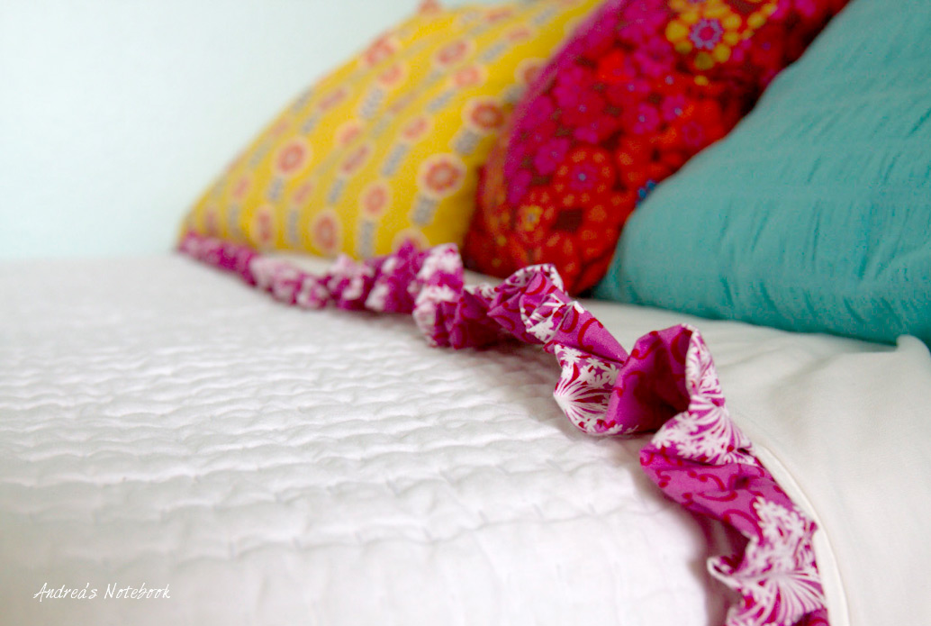 Easy ruffled sheets tutorial