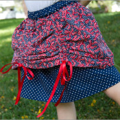 ribbon tie up skirt tutorial andreasnotebook.com