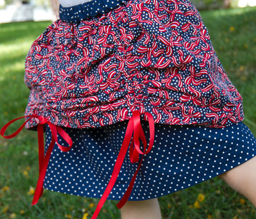 ribbon tie up skirt tutorial andreasnotebook.com