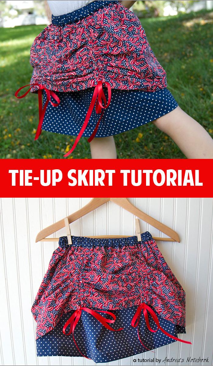Ribbon tie-up skirt tutorial!