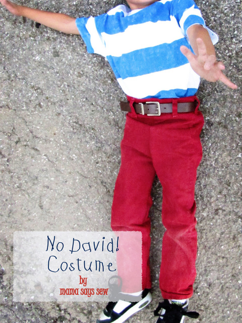 No David costume tutorial
