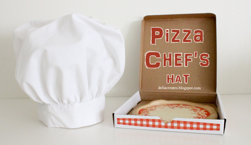DIY Pizza Chefs Hat Tutorial - Andreas Notebook