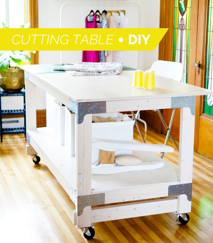 DIY fabric cutting table