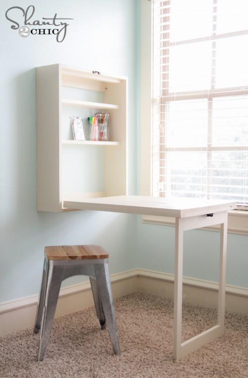 Diy Murphy Desk Folds Up Tutorial From Shanty 2 Chic