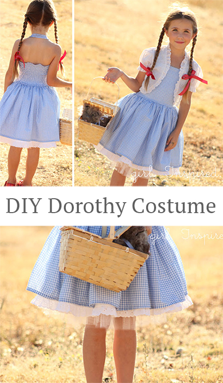 Make your own DIY Dorothy costume! Great tutorial by Girl, Inspired.