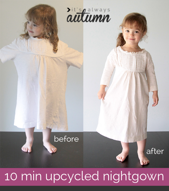 10 minute pajama upcycle!