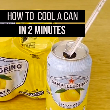 How to cool a can in 2 minutes